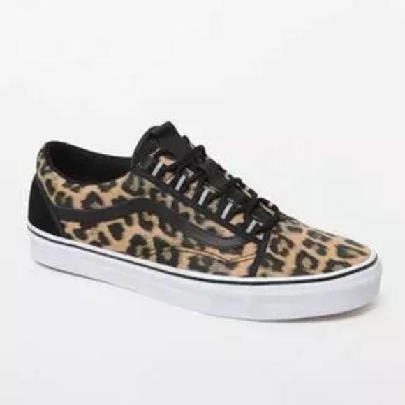 vans old skool leopardo